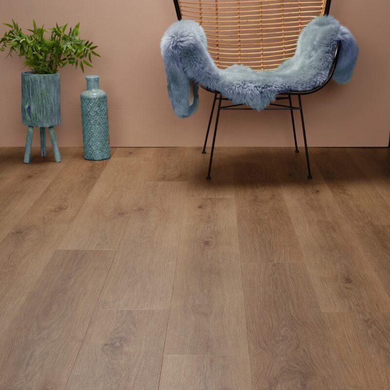 Plak-PVC Bruin Eiken (128)
