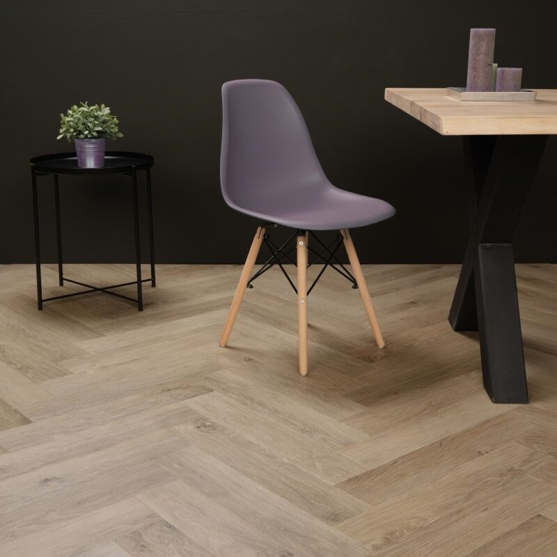 Klik-PVC Visgraat Zand Eiken (139)