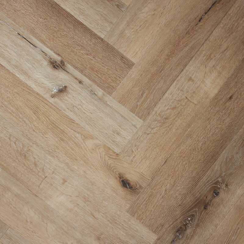 Grijs Bruin Eiken PVC-visgraat vloer (148)