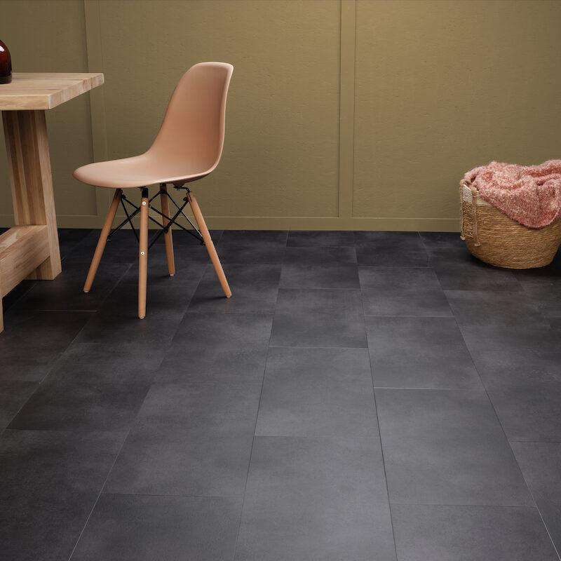 Klik-PVC Antraciet Steen (153)