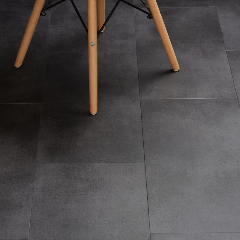Klik-PVC Antraciet Steen (153)