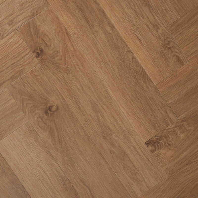 Klik-PVC Visgraat Bruin Eiken (138)